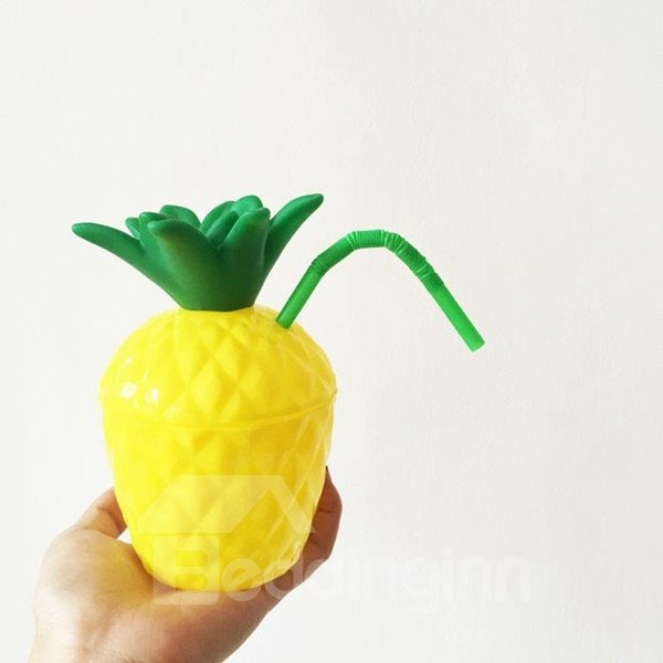 Cute Food Degree Silicon Pineapple Outdoor Drinking Cup 12272336