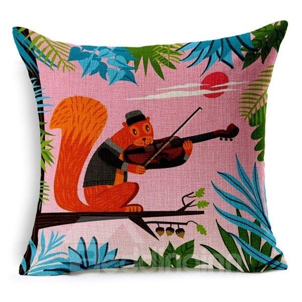 Super Cute Vibrant Color Animal Print Throw Pillow Case
