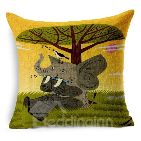 Unique Modern Style Cartoon Animal Print Throw Pillow Case