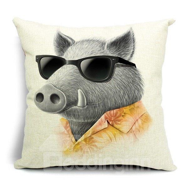 Popular Design Cute Animal Print Throw Pillow Case