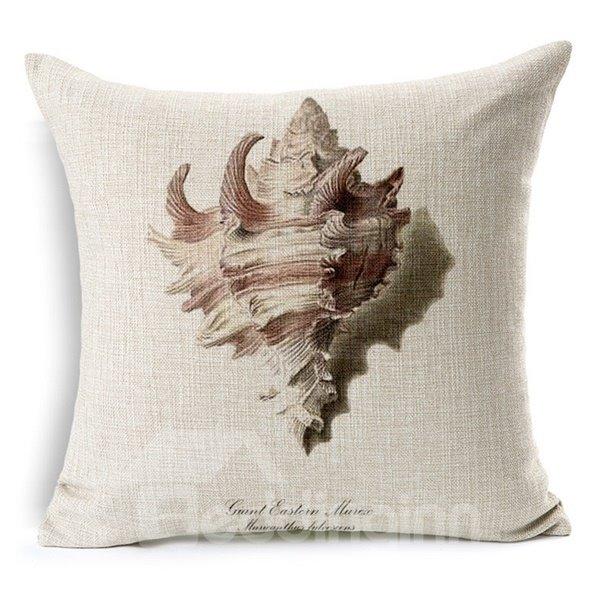 Minimalist Style Marine Life Print Throw Pillow Case