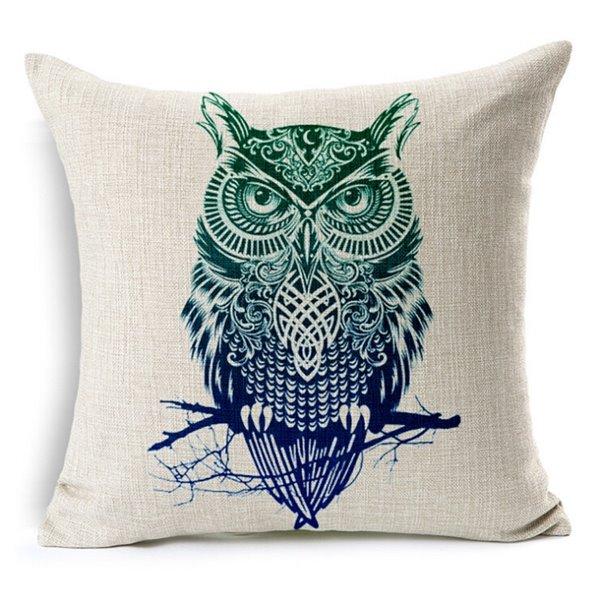 Concise Style Cartoon Animal Print Throw Pillow Case