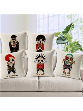 Pop Design Skull Print Throw Pillow Case