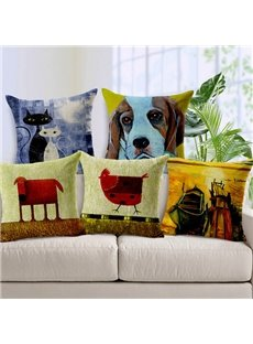 Wonderful Cartoon Animal Print Throw Pillow Case
