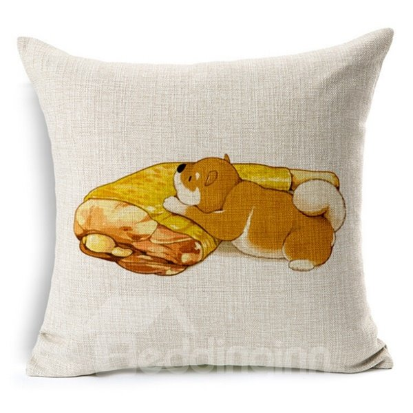 Pleasing Cat Print Square Throw Pillow Case