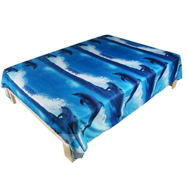 Gorgeous Blue Dolphin Print 3D Flat Sheet