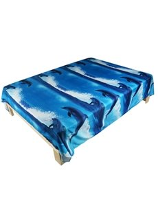 Gorgeous Blue Dolphin Print 3D Flat Sheet