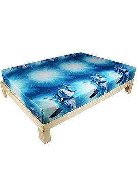 Lovely 3D Dolphin Printed Cotton Fitted Sheet