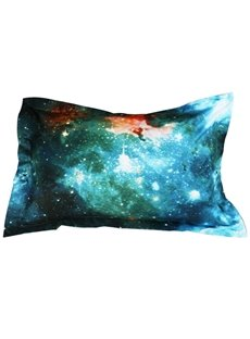 Dazzling 3D Galaxy Printed Polyester 2-Piece Pillow Cases