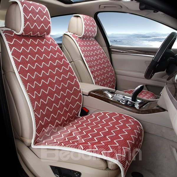 Light Extravagance Colorful And Cool Silk Material 7-Seater Car Seat Cover