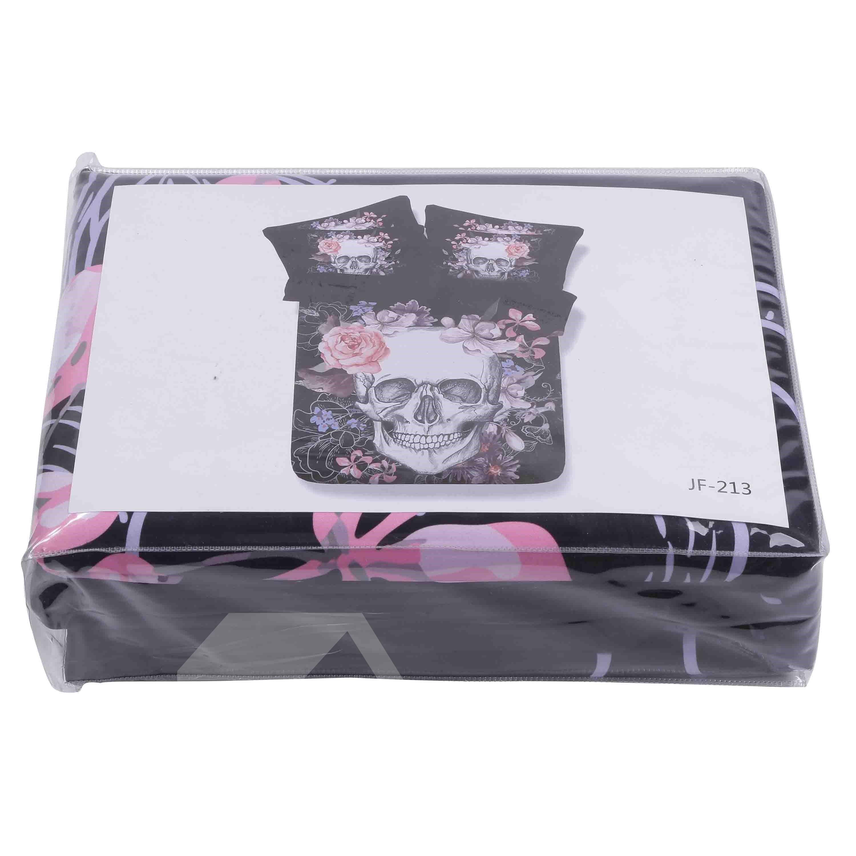 Super Cool Skull Design Black 4 Piece Duvet Cover Sets