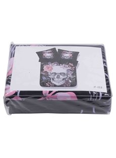 Super Cool Skull Design Black 4-Piece Duvet Cover Sets