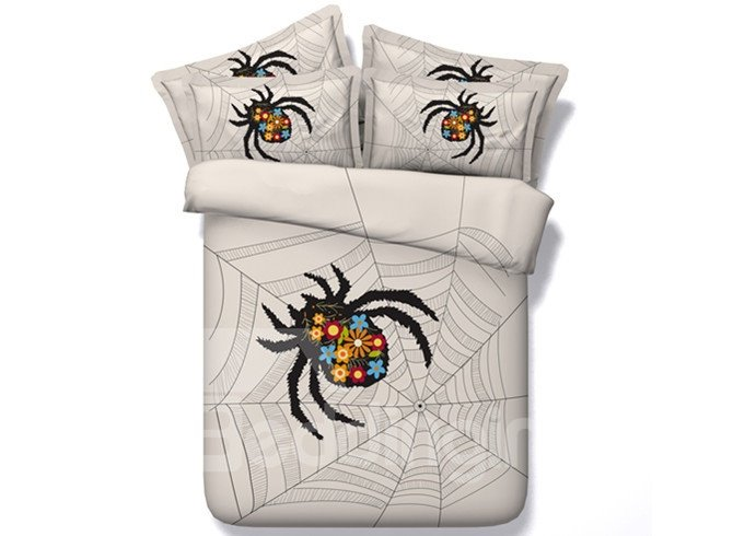Cool Spider Web Print 5-Piece Comforter Sets