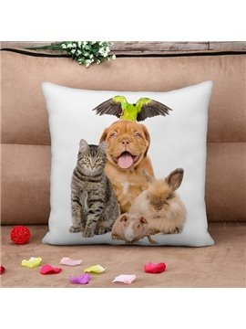 Cute Animal Design Square Throw Pillow Case