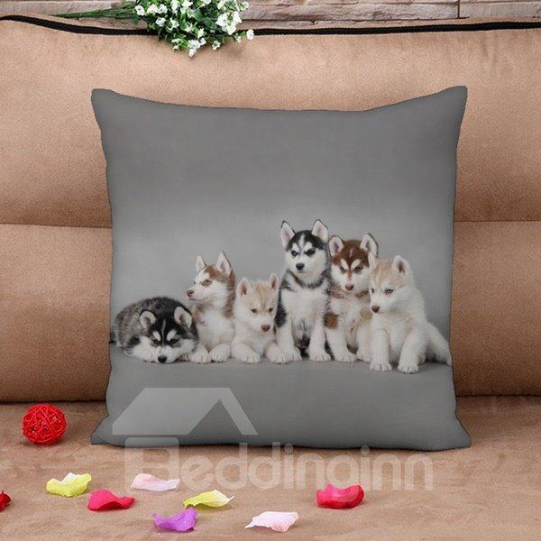Vivid Animal Print Square Throw Pillow Case