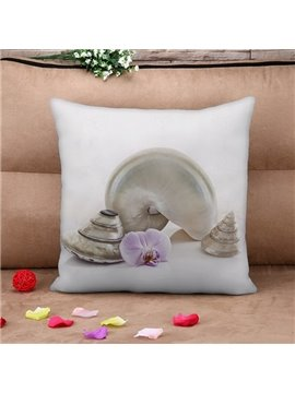 Chic Viviparidae Print Square Throw Pillow Case