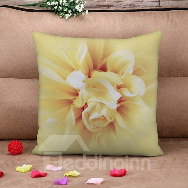 Charming Blooming Flower Print Throw Pillow Case