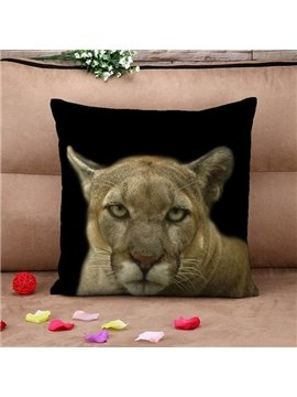 Lifelike 3D Leopard Print Throw Pillow Case