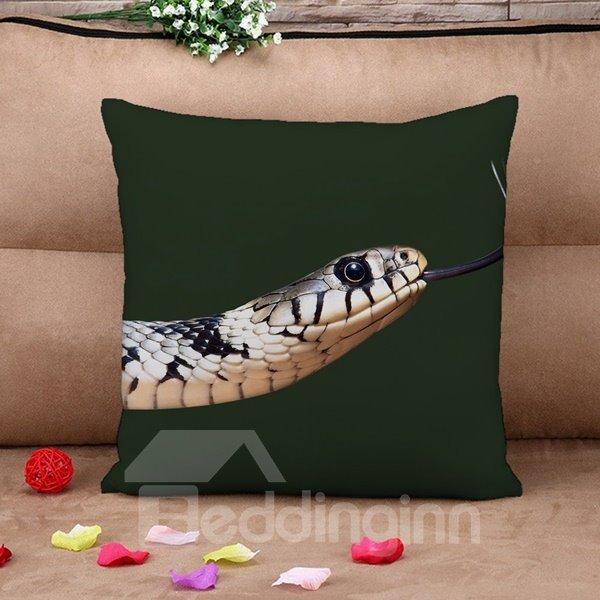 Stunning Snake Print Square Throw Pillow Case