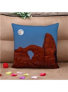 Fascinating Natural Scenery Print Throw Pillow Case