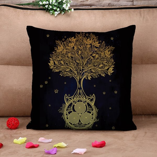 Ultra Soft Chic Tree Design Throw Pillow Case