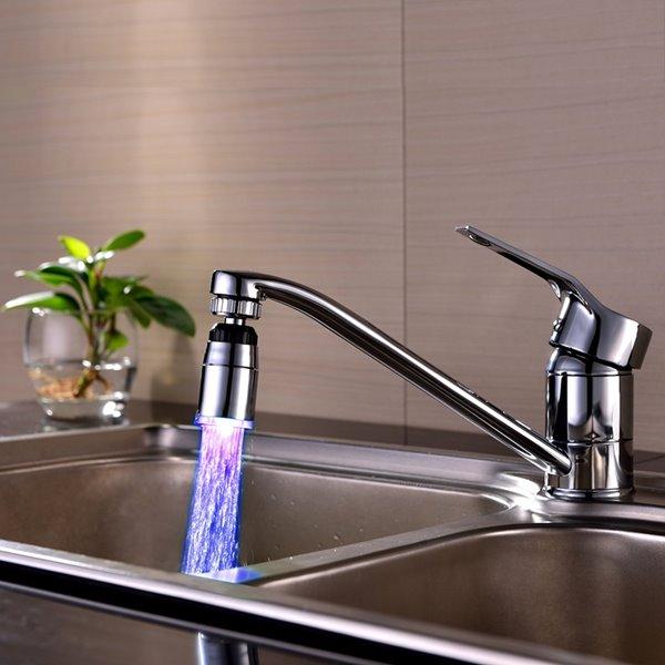 Colorful 3 Colors Temperature Sensor Kitchen Faucet Head