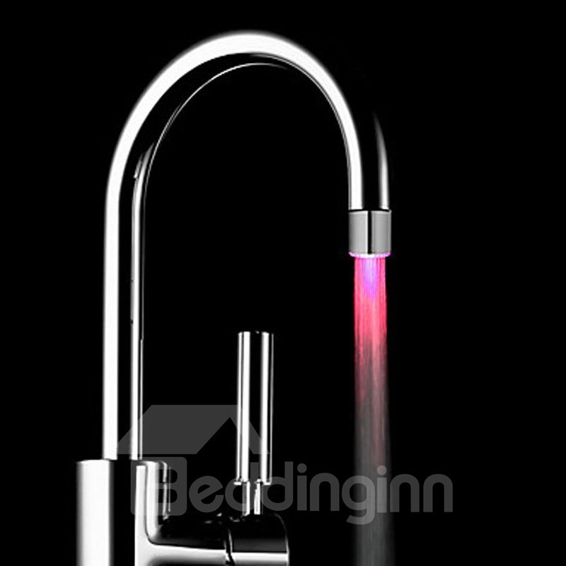 Simple Style 3 Colors Temperature Sensor Kitchen Faucet Head
