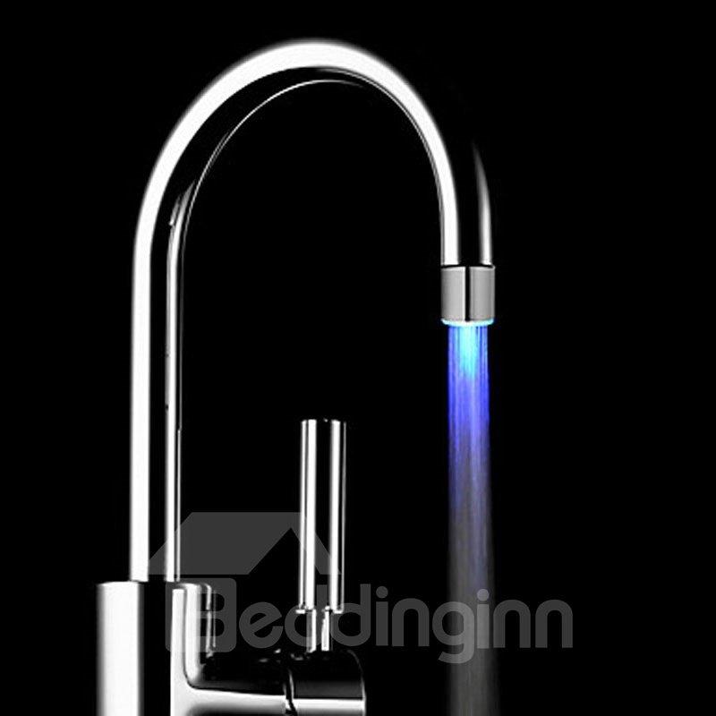 simple style 3 colors temperature sensor kitchen faucet