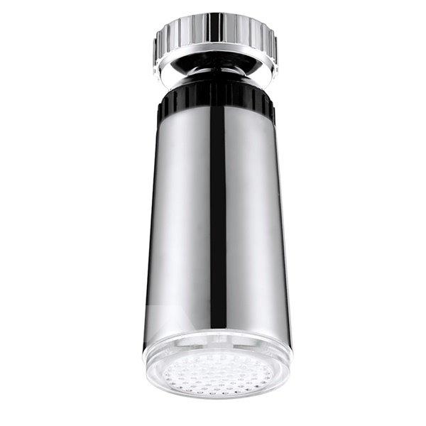 Comtemporary Chrome Finish Temperature Sensor Kitchen LED Faucet Head