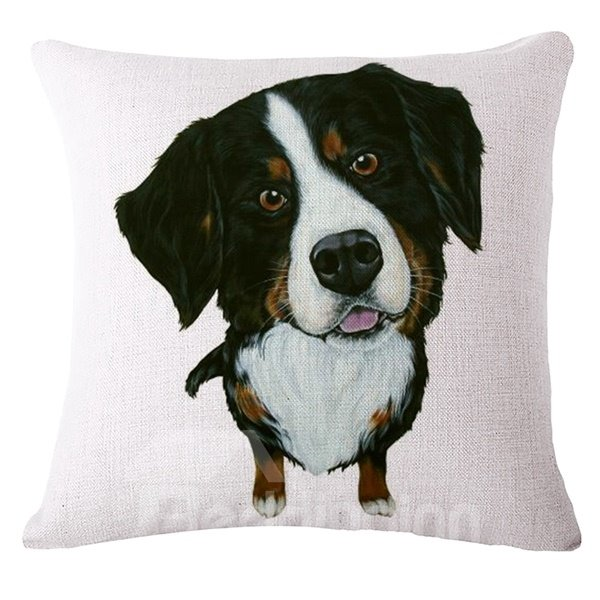 Lovely Puppy Reactive Printing Throw Pillow Case