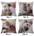 Heart-warming Baby and Dogs Print Throw Pillow Case