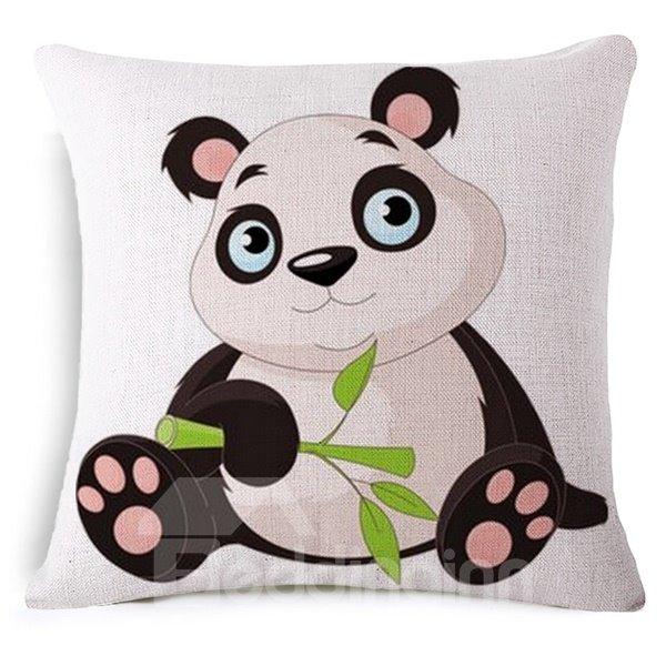 Faddish Likable Panda Print Throw Pillow Case