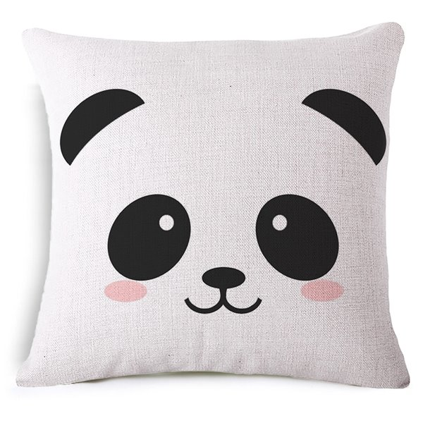 Cute Panda Pillow : Minimalist Style Cute Panda Print Throw Pillow Case - beddinginn.com