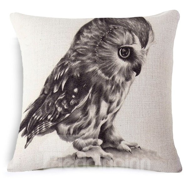 Wonderful Owl Reactive Printing Throw Pillow Case