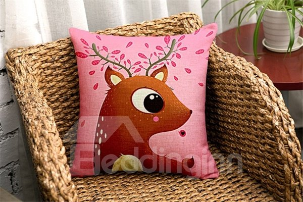 Exquisite Cartoon Animal Print Throw Pillow Case