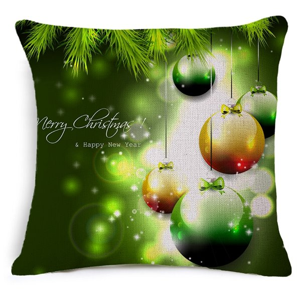 Fresh Style Christmas Decoration Print Throw Pillow Case