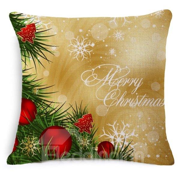 Special Design Mistletoe Print Throw Pillow Case