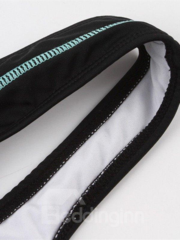 Female U-Neck Simple Style Free Wire and Falsies Tankini