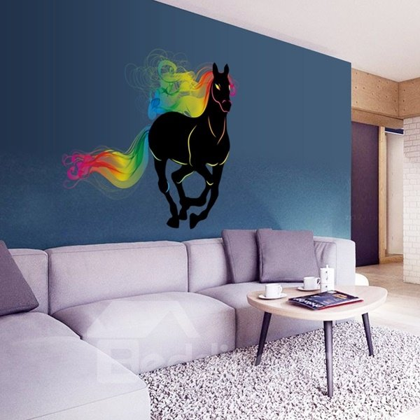 Unique Design Running Horse Pattern Decorative Wall Stickers