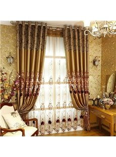 Luxury European Style Embroidery Custom Sheer Curtain