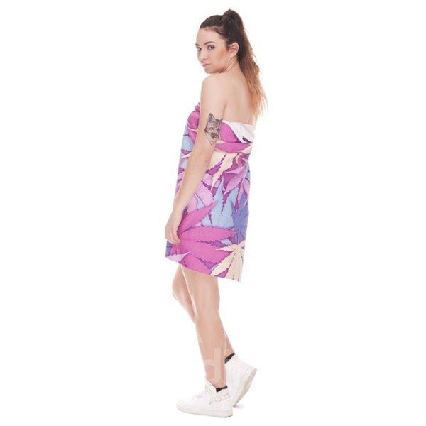 Colorful Maple Leaves 3D Printing Square Beach Towel & Bath Towel