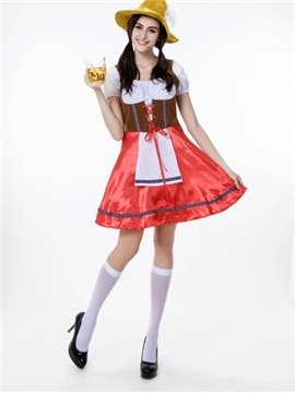 Attractive Exotic Red Skirt With Charming Hat Cosplay Costumes