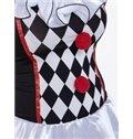 Fashional Black White Diamond Grid Design Cosplay Costumes