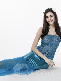 Magic Blue Mermaid Sexy And Special Cosplay Costumes