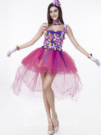 Colorful Coat And Cute Short Pink Skirt Cosplay Costumes
