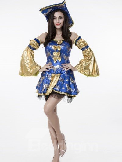 Fashional Flappers Luxurious Crafts With Special Hat Cosplay Costumes