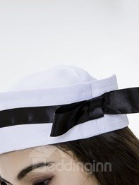 Fashional Navy Cloth Design With White Stock Cosplay Costumes