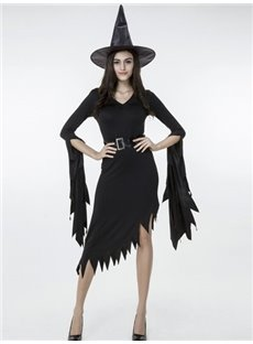 Charming Cool Witch Modeling With Cape Hat Cosplay Costumes