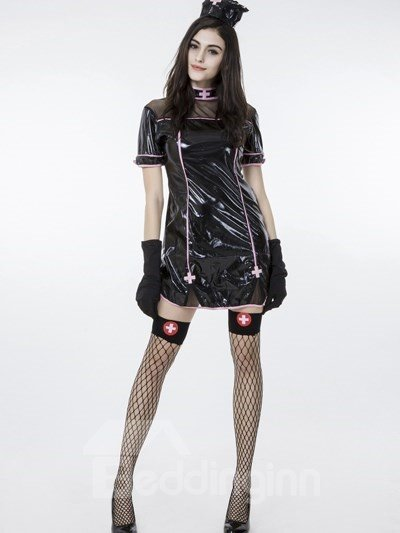 Black Sexy Nurse Clothing Design Popular Cosplay Costumes