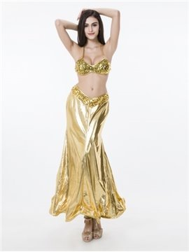 Luxury Golden Color With Charming Flash Chip Cosplay Costumes